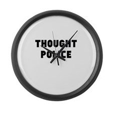 THOUGHT POLICE Large Wall Clock
