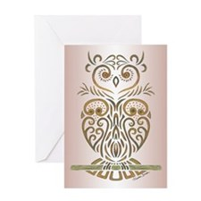 Tribal Owl Greeting Cards