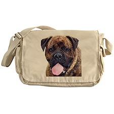 Brindle Bullmastiff Head Messenger Bag