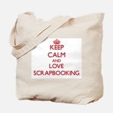 Keep calm and love Scrapbooking Tote Bag