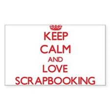 Keep calm and love Scrapbooking Decal
