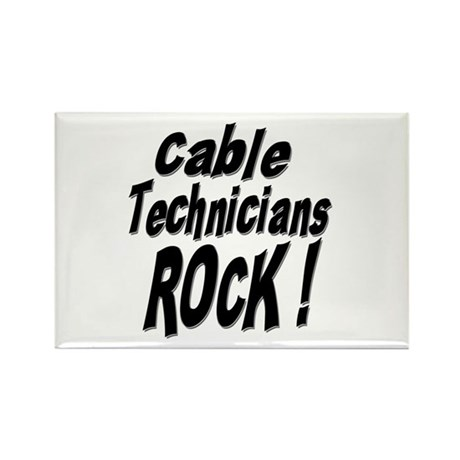 Cable Techs Rock ! Rectangle Magnet (100 pack)