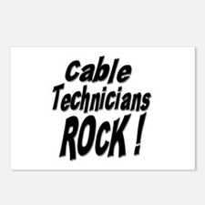 Cable Techs Rock ! Postcards (Package of 8)