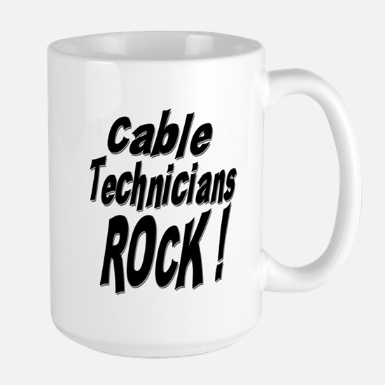 Cable Techs Rock ! Large Mug