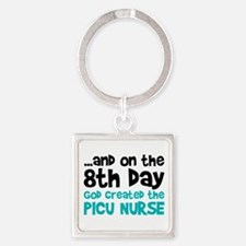 PICU Nurse Creation Square Keychain