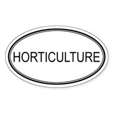 HORTICULTURE Oval Decal