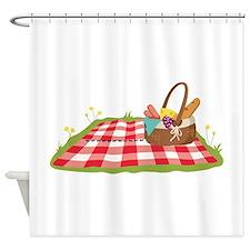 Picnic Basket Blanket Shower Curtain