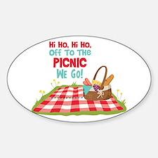 Hi Ho,Hi Ho, Off To The Picnic We Go! Decal