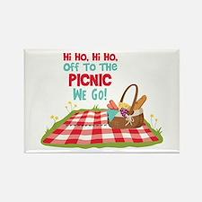Hi Ho,Hi Ho, Off To The Picnic We Go! Magnets