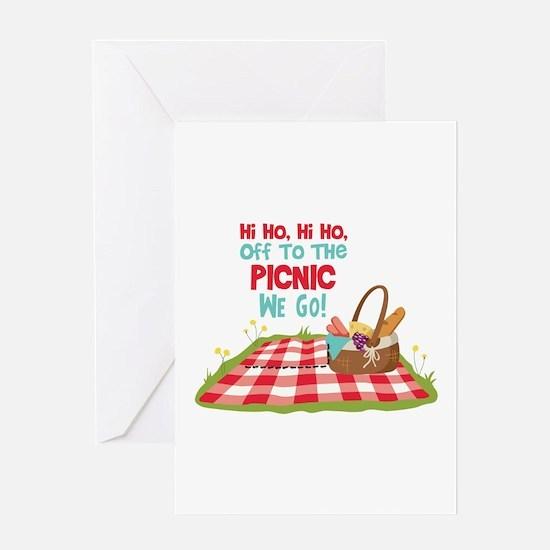 Hi Ho,Hi Ho, Off To The Picnic We Go! Greeting Car