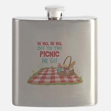 Hi Ho,Hi Ho, Off To The Picnic We Go! Flask