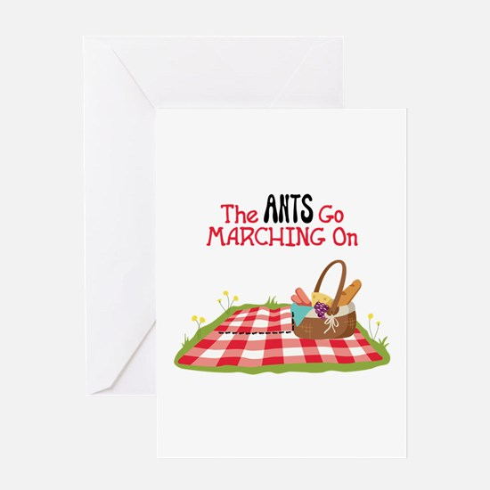The Ants Go Marching On Greeting Cards