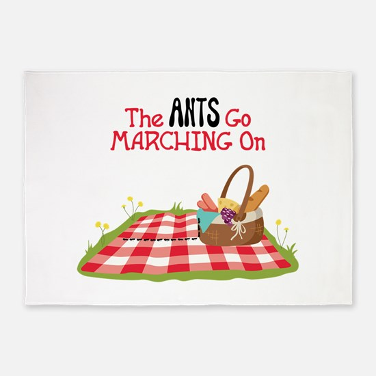The Ants Go Marching On 5'x7'Area Rug