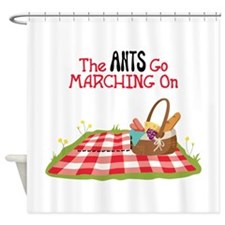 The Ants Go Marching On Shower Curtain