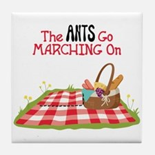 The Ants Go Marching On Tile Coaster