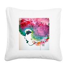 Essence Square Canvas Pillow