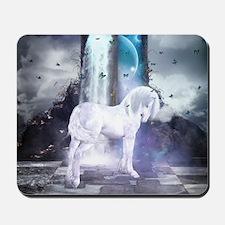Silver Unicorn Mousepad