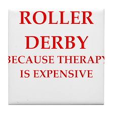 roller derby Tile Coaster
