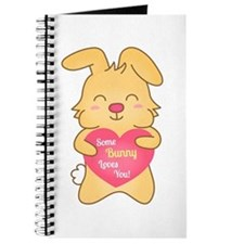 Some bunny loves you, cute humor Journal
