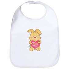 Some bunny loves you, cute humor Bib