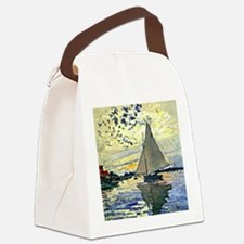Monet - Sailboat at le Petit Genn Canvas Lunch Bag