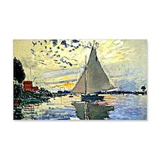 Monet - Sailboat at le Petit Genn Wall Decal