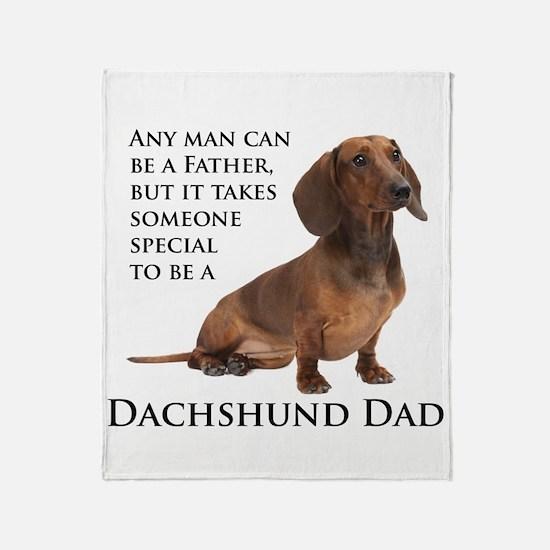 Dachshund Dad Throw Blanket
