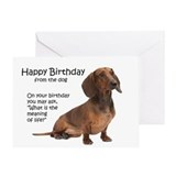Dachshund Greeting Cards