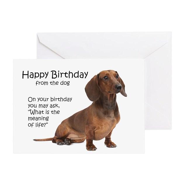 Funny Dachshund Birthday Cards By Shopdoggifts