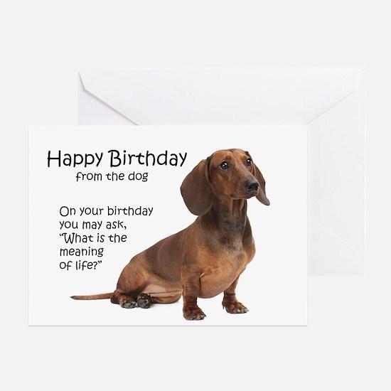 Funny Dachshund Birthday Cards