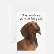 Dachshund Get Well Cards