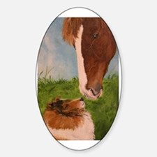 Sable Sheltie and Horse Decal