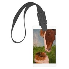Sable Sheltie and Horse Luggage Tag