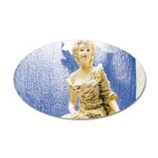 Art Nouveau Statue 20x12 Oval Wall Decal
