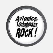 Avionics Techs Rock ! Wall Clock