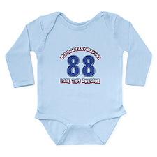 88 year old birthday d Long Sleeve Infant Bodysuit