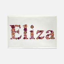 Eliza Pink Flowers Rectangle Magnet