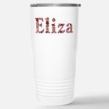 Eliza Pink Flowers Travel Mug