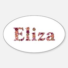 Eliza Pink Flowers Oval Decal