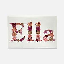Ella Pink Flowers Rectangle Magnet