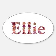 Ellie Pink Flowers Oval Decal