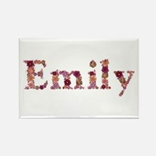 Emily Pink Flowers Rectangle Magnet