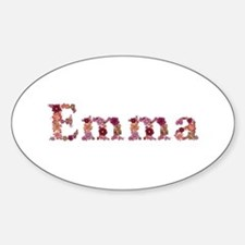 Emma Pink Flowers Oval Decal