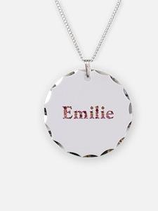 Emilie Pink Flowers Necklace