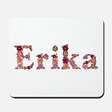 Erika Pink Flowers Mousepad