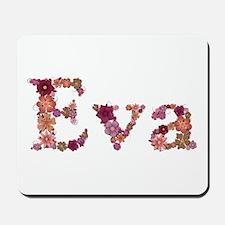 Eva Pink Flowers Mousepad