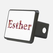 Esther Pink Flowers Hitch Cover