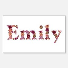 Emily Pink Flowers Rectangle Decal