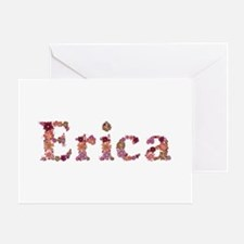 Erica Pink Flowers Greeting Card