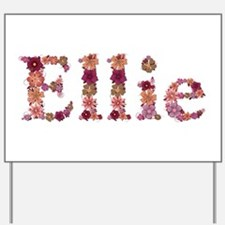 Ellie Pink Flowers Yard Sign